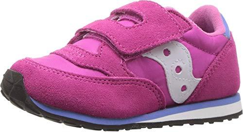 Saucony Boy's Baby Jazz Hook & Loop Sneaker, magenta, 10 Medium US Toddler