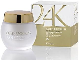 24K Gold Progress Anti Wrinkle Facial Cream with Gold Peptides + Rosa Mosqueta. Multi Repair Regenerator Collagen 1.70 fl ...