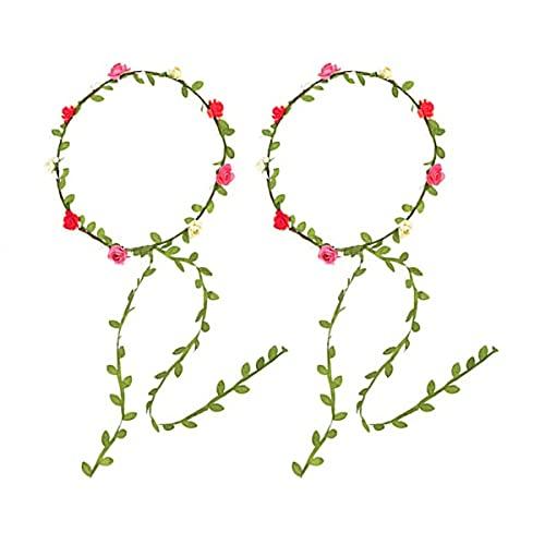 Corona di Fiori, 2 Pezzi di Ghirlande per la Decorazione Della Festa Nuziale in Stile Bohémien