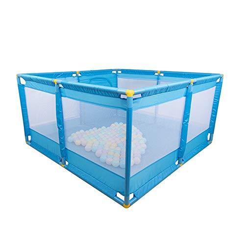 Clôture Pour Bébé, Aire De Jeux Pour Enfants Barrière De Sécurité Rampante Pour Enfants, 8 Panneaux, Portable H: 66CM (bleu)