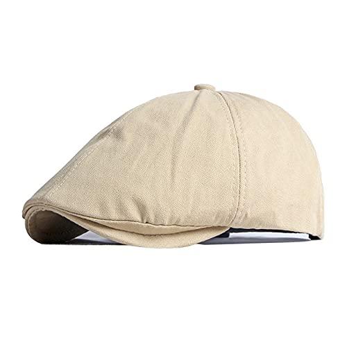 KeepSa Gorras Planas para Hombre y Mujer,Sombrero Vintage,Monocromático Newsboy Boina Caps Hat Gorras Sombreros Boina de Literatura de británico 57-61CM