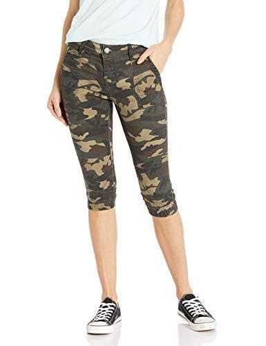 Cover Girl Jeans Juniors Denim Shorts Booty Bermuda Capri Mid Rise Basic or Ripped, Army, 9