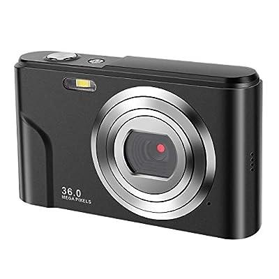 IEBRT Mini Digital Camera with Full Hd 1080p 2.4 Inch and 16x Digital Zoom LCD Screen Pocket YouTube Vlogging Camera for Kids Adult Beginners by IEBRT