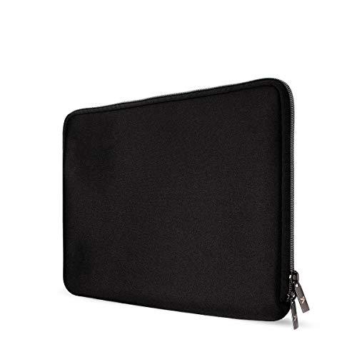 Artwizz Neoprene Sleeve Tasche für iPad Pro 12,9' (2018) - Schutzhülle mit Reißverschluss, weichem Webpelz, extra Schutzrand - Schwarz