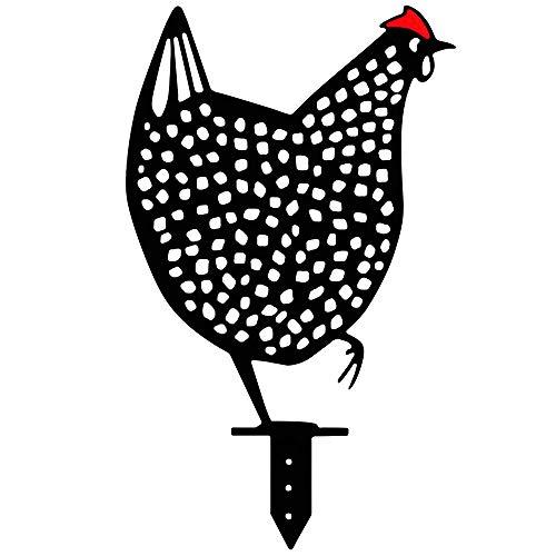 Gallo Sagoma Animale in Metallo Palo per Cortile, Gallina Realistica Scava Fuori Sagoma di Pollo Decorativi da Giardino Gallina in Metallo Ombra Decor Art, per Giardino All'aperto, Impermeabile