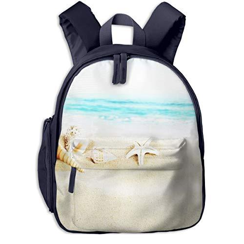 Kinderrucksack Kleinkind Jungen Mädchen Kindergartentasche Sandmuscheln Sandstrand Backpack Schultasche Rucksack