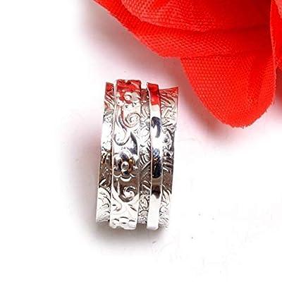 Spinner Band Rings, bague d'inquiétude pour Meditaion, bague cadeau pour Noël, bagues Spinner Band en argent sterling 925 pour femmes
