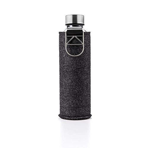 EQUA Mismatch Silver - Borraccia in vetro borosilicato con custodia protettiva, 750 ml (0,75 l)