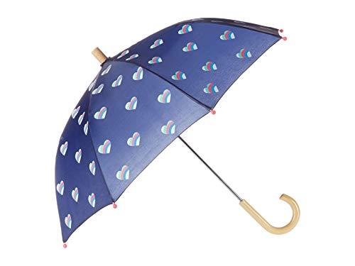 Hatley Mädchen Printed Umbrellas Regenschirm, Gestreifte Herzen, OneSize