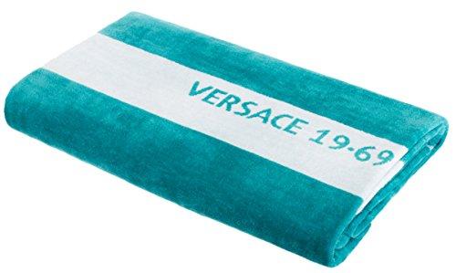 Versace 19.69 Abbliglianmento Sportivo SRL Toalla de baño Toalla de Playa Toalla de Sauna de Marca 100% algodón Aprox. 90x180 cm Color Turquesa