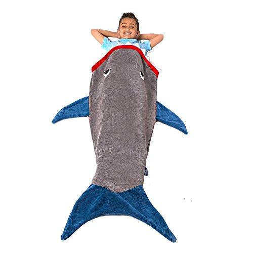 Preis am Stiel Decke ''Hai'' | Sofadecke | Schlafsack für Kinder | Kuscheldecke | Mermaid Decke | Haidecke | Fleecedecke günstig | Polarfleece Decke | Geschenk für Kinder