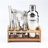 JJZXD Conjunto de 12pc Set Cocktail Shaker Bar Set Mezclador Haciendo Kit Gift Bartender Steel de Acero Inoxidable