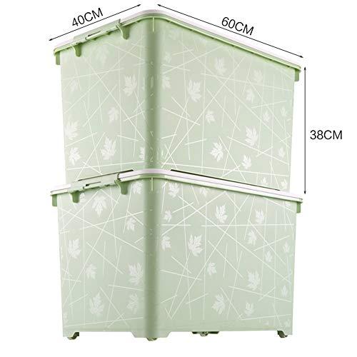 GSHWJS Grote transparante opbergdoos van kunststof, robuuste en stapelbare box, montage met 2 wasmanden.