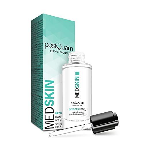 Postquam - Med Skin | Peeling Facial con ácido glicólico - Elimina puntos negros y espinillas - 30 Ml