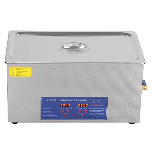 Limpiador ultrasónico, APLICACIÓN: para limpiar suciedad, aceite y limpiador de bacterias, pantalla de temporizador digital para un control preciso de la joyería para el hogar