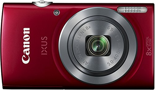 Canon IXUS 160 Digitalkamera (20 MP, 8-fach optisch, Zoom, 16-fach ZoomPlus, 6,8cm (2,7 Zoll) LCD-Display, HD-Movie 720p) rot