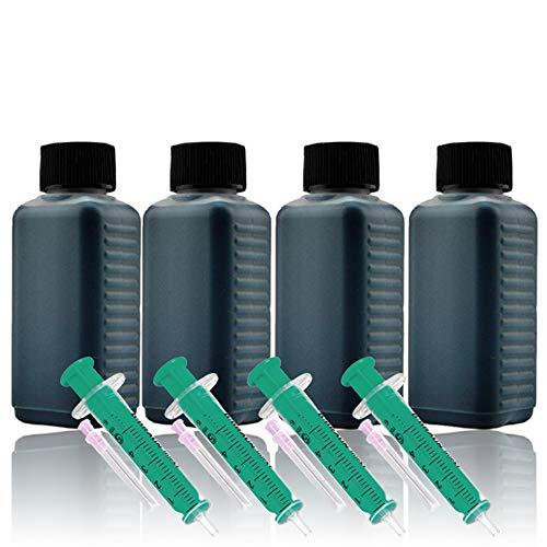 400ml Nachfülltinte Druckertinte Refillset für HP (schwarz/Black)