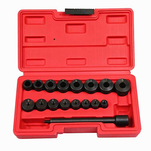 BestsQ 17-teiliges Universal-Ausrichtungsset für Kupplungsrad, Pilotloch und Kupplungsantriebsplatte Ausrichtungswerkzeug