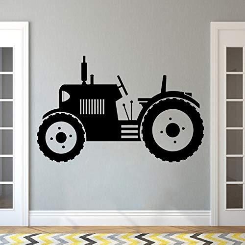 PSpXU Traktor Wandtattoo großen Reifen Bauer Auto Wandaufkleber Kinder Kinder Kleinkind Wandplakat Hauptdekoration Bauernhof Wandmalerei68x42cm