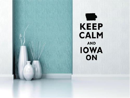 Keep Calm and Iowa auf 22 x 11 cm Autoaufkleber