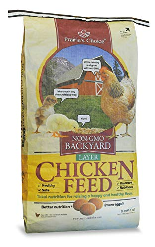 Prairie's Choice Non-GMO Backyard Chicken Feed - Layer Formula, 25lbs