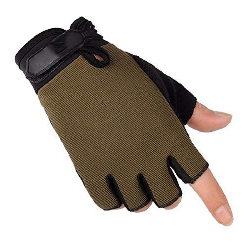 Guantes Ligeros Transpirables de Verano para Hombre Guantes Antideslizantes para el Dedo Completo y Medio Dedo-a18