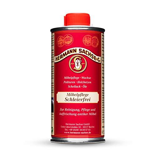 Hermann Sachse Möbelpolitur Holz dunkel | 250ml Möbelpflege Schleierfrei | Möbelpflegeöl besonders für Antikmöbel zur Reinigung, Auffrischung und Pflege | entfernt Wasserflecken retuschiert leichte Kratzer