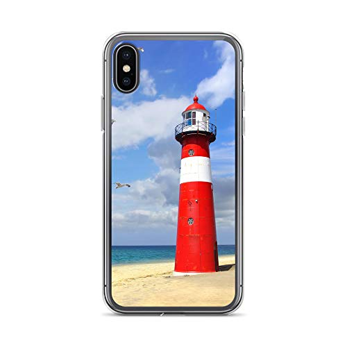 blitzversand Handyhülle NORDSEE WATT kompatibel für Huawei G8 Mini Leuchtturm rot weiß Schutz Hülle Case Bumper transparent rund um Schutz M7