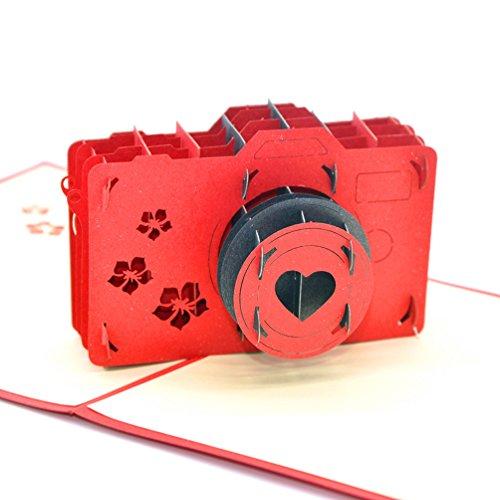 Medigy 3D Pop Up wenskaarten Camera lege kaarten voor de meeste gelegenheden