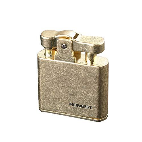 Oil Petrol Lighter Flint Wheel Refillable Kerosene Cigar Cigarette Vintage Metal Lighter