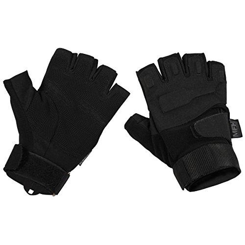 MFH Protect Fingerless Gloves Black size M