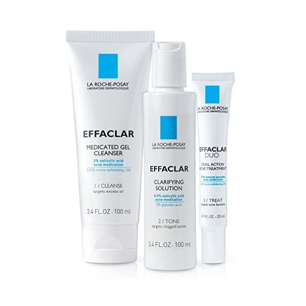 Acne treatment products La Roche-Posay Effaclar Dermatological Acne Treatment 3-Step System with Medicated