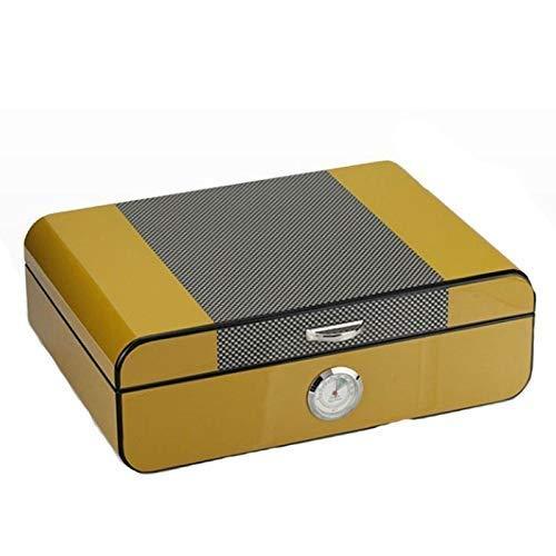 Humidores de cigarros Humidor de Escritorio Cedar Caja de cigarros con humidificador higrómetro Holds40 Cigarros Titular de Madera Humidor de Viaje para los Hombres