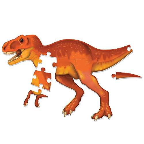 Learning Resources T-Rex Jumbo Dinosaur Floor Puzzle, 3D Puzzles for Kids, Puzzle Mat, 20 Pieces, Ages 3+