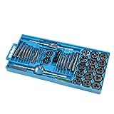 Homiki Roscado Conjunto de métricas del Grifo Die Set Plug Mano Tapping Formando Kit de Persecución de Suministros Industriales DIY 40PCS