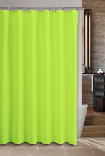 Bath Elements Heavy Duty Magnetized Shower Curtain Liner Resistant Neon Lime Green