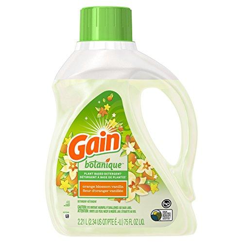 Gain Plant Based Laundry Detergent, Orange Blossom Vanilla, 48 Loads, 75 Fl. Oz