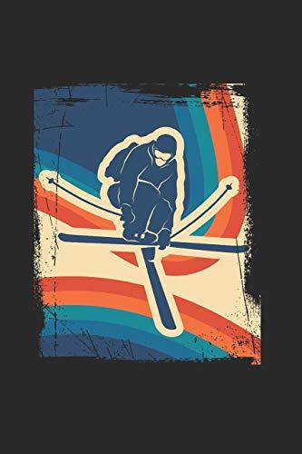 Notizbuch: Ski fahren Notebook liniert A5 I Geschenk für Ski Fahrer I Wintersport Tagebuch I Ski Urlaub Journal I Skiing Notizen I Berge Schnee Notizheft