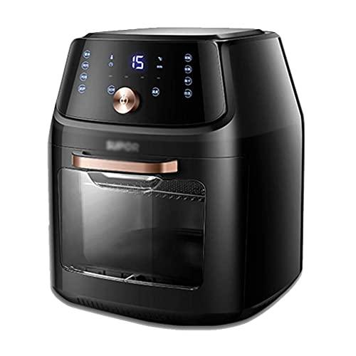 Wyxy Freidora de Aire Totalmente automática eléctrica Multifuncional para el hogar de Gran Capacidad sin 18 litros (Color: Negro, tamaño: 35 * 34 * 45 cm)