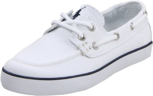 Polo by Ralph Lauren Sander Boat Shoe (Little Kid/Big Kid),White,5 M US Toddler