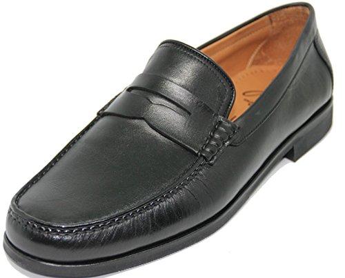 George´s Shoes 3406.Zapato Mocasín con Antifaz,Piel Tafilete de Primera Calidad,Color Negro.Fabricado a Mano EN Inca Mallorca España.