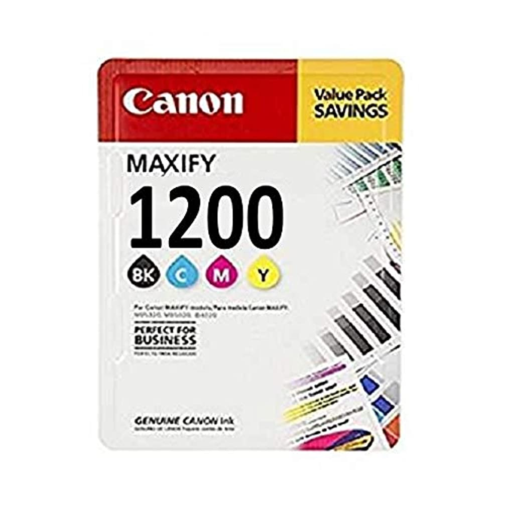 Canon Maxify Setup PGI1200BK, PGI1200C, PGI1200M, PGI1200Y Ink Cartridge Set of Black, Cyan, Magenta, Yellow - 1 Each