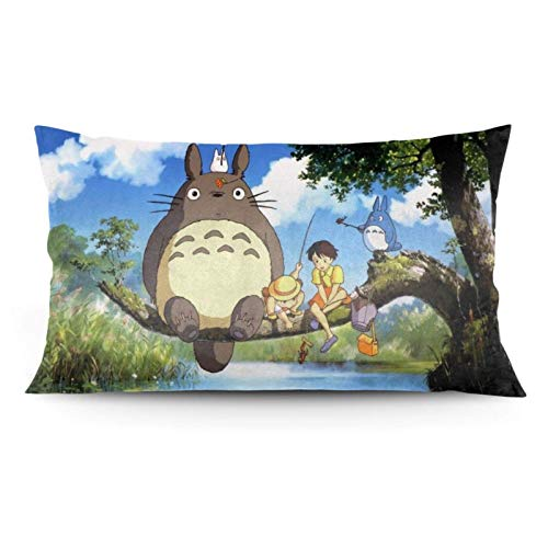 zhaoyang My Neighbor To-t-oro - Funda de almohada, diseño de anime, manta y cama, cama o sofá (50 x 90 cm)