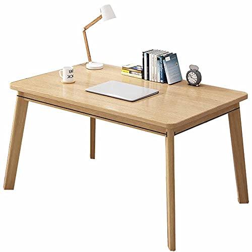LJFYXZ Mesa de Ordenador 39' Mesa de Ordenador portátil para PC Comedor Escritorio de Oficina en casa de Trabajo para la Cocina de Estudio Familiar de la Empresa F(Size:80x60x75cm,Color:Color Madera)