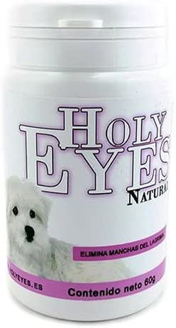 Holy Eyes Natural Tear Stain Remover Blanqueador Lagrimal Dog Cat 30gr