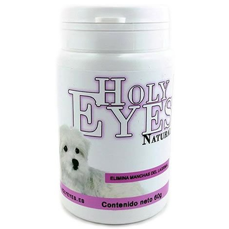 Holy Eyes Natural Tear Stain Remover Blanqueador Lagrimal Dog Cat 60gr
