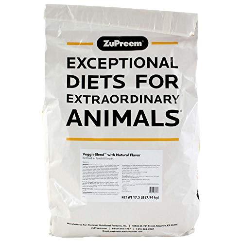 ZuPreem VeggieBlend - Alimento para Aves, Pienso Loros y Guacamayos, Verduras, 7.94 kg