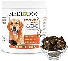 Medidog Zeggi Weggi Drops - ochrona premium dla psów, tłoczony na zimno i nie zawiera zboża, z olejkiem z czarnuszki,...