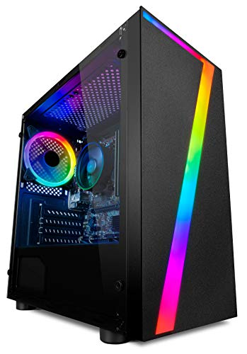 Vibox I-39 PC Gamer - Quad Core Ryzen Processeur - Radeon Vega 8 Graphique - 16Go RAM - 240Go SSD - 1To Disque Dur - Windows 10 - WiFi