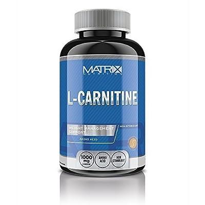 Matrix Nutrition L-Carnitine - Fat Burner Weight Loss - Amino Acid - 2 Tablets 500mg Serving. by Matrix Nutrition